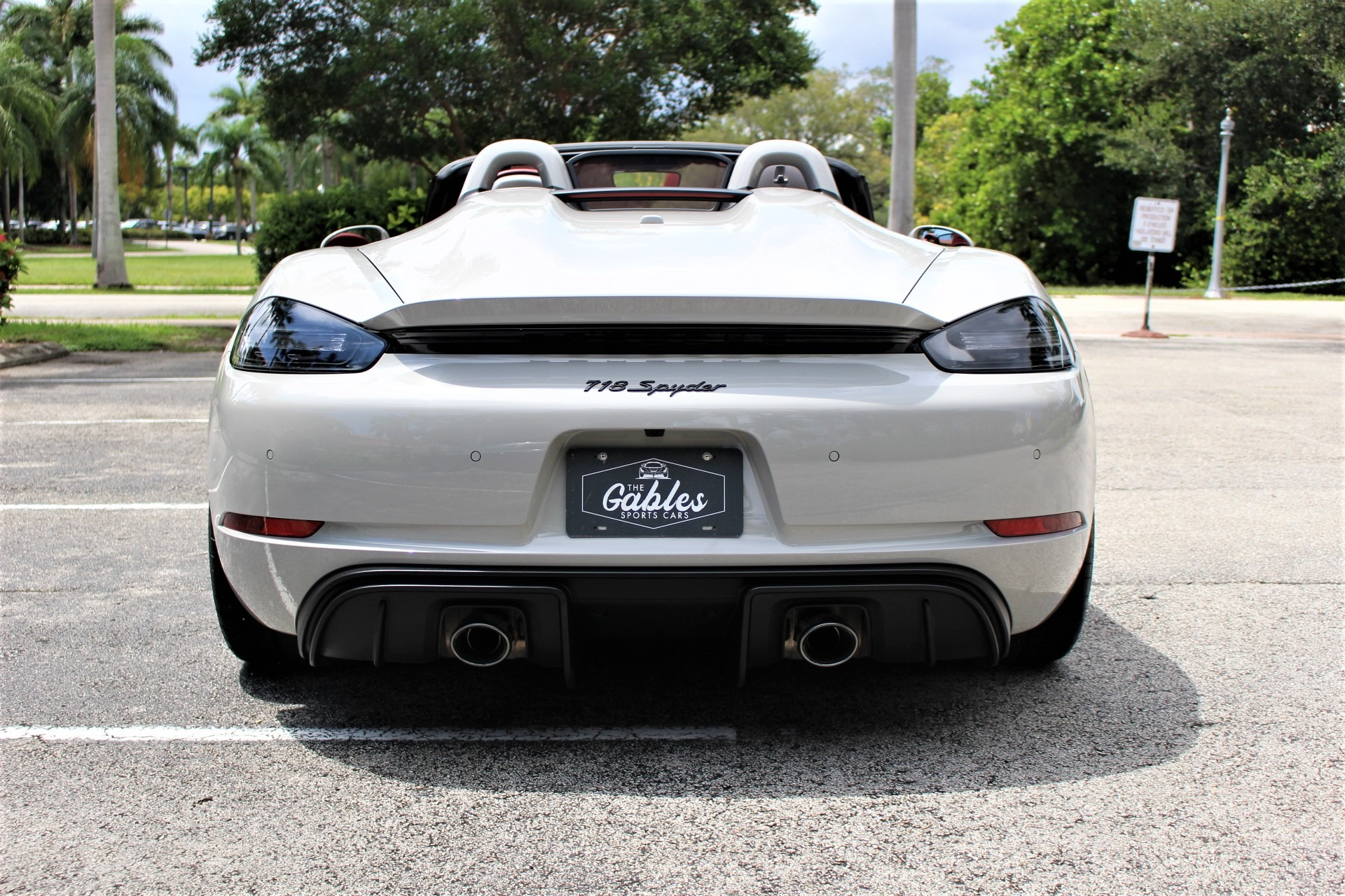 Used 2021 Porsche 718 Boxster Spyder for sale Sold at The Gables Sports Cars in Miami FL 33146 4